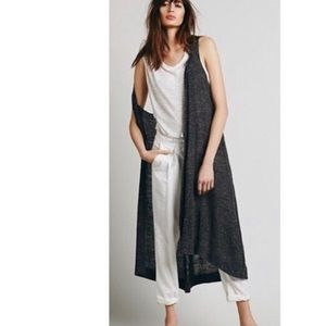 Free People Long Sleeveless Duster